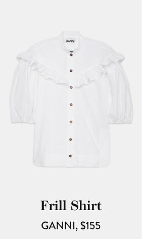 Frill Shirt GANNI, $155