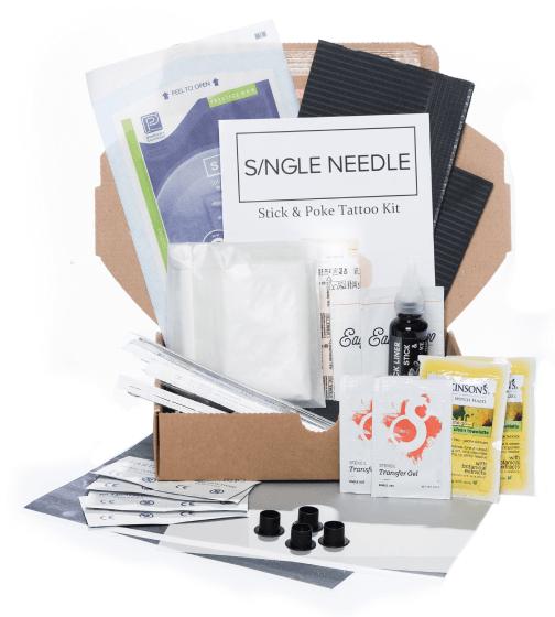 Single Needle Stick-and-Poke Tattoo Kit