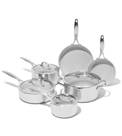 GreenPan Venice Pro Ceramic Nonstick Cookware, 10-Piece Set