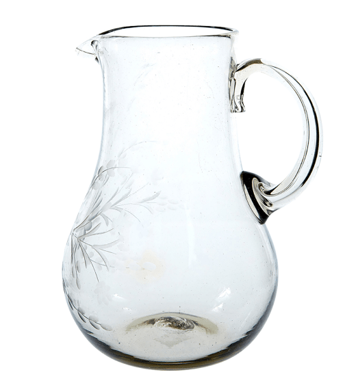The Little Market Clear Round Glass Pitcher