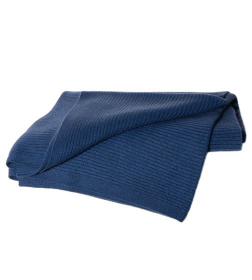 Hangai Cashmere Ribbed Knit Throw
