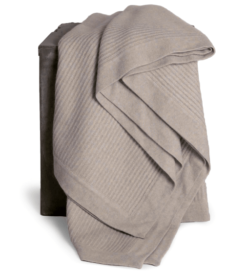 Hangai Fisherman's Knit Yak-Down Throw