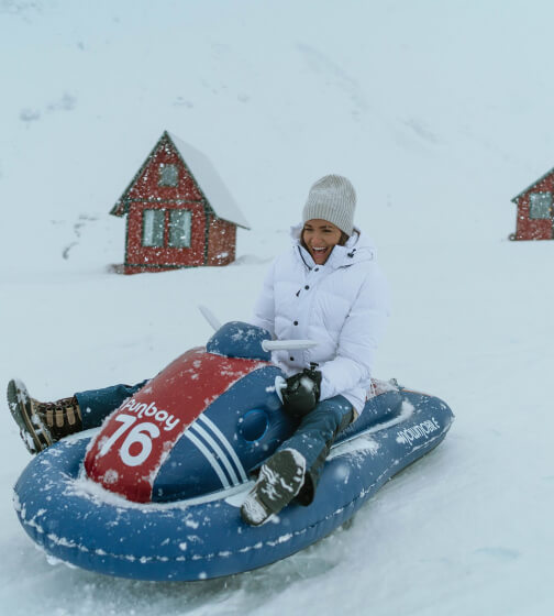 FUNBOY Inflatable Snowmobile