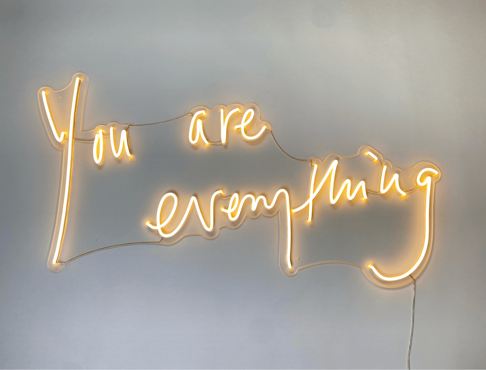 you are everything neon sign
