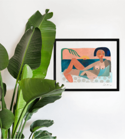Jungalow Nude Beach Print by Justina Blakeney
