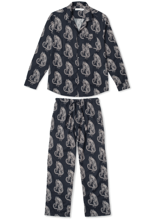 Desmond and Dempsey Mens Tiger Pajama Set