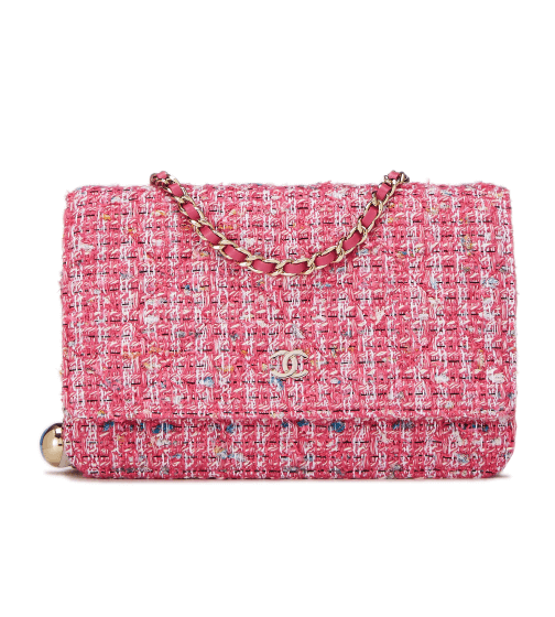 What Goes Around Comes Around Chanel Pink Tweed Bag