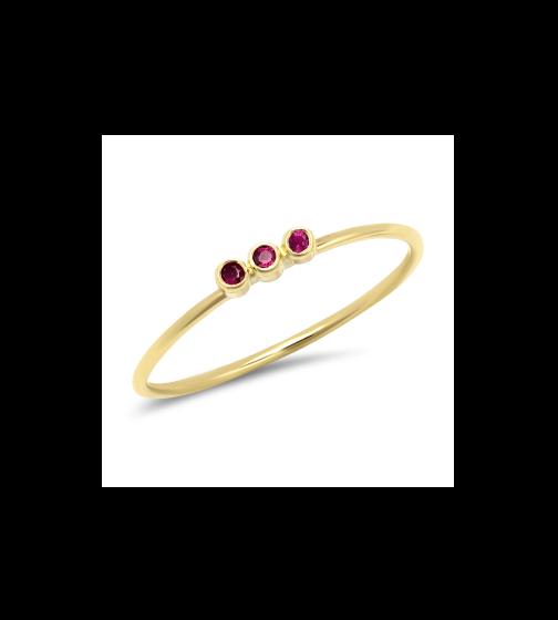 Jennifer Meyer Ruby Mini Bezel Ring