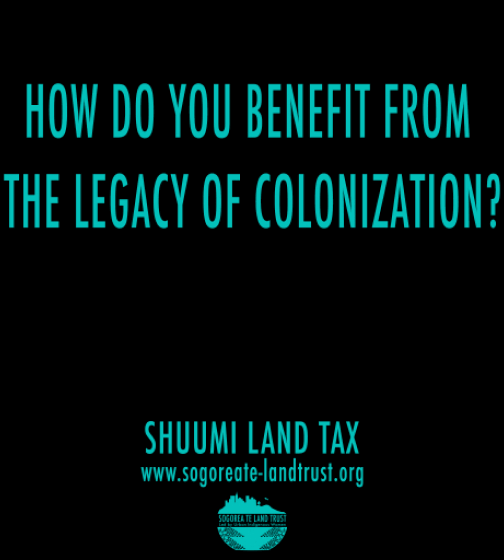 Sogorea Te Land Trust Shuumi Land Tax