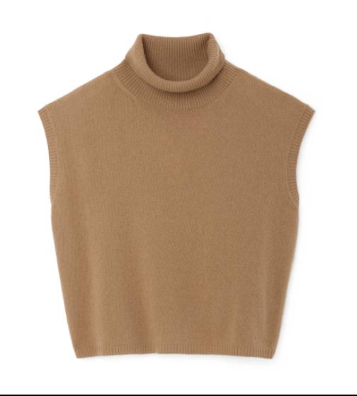 G. Label Juliet Mock-Neck Sweater Tank